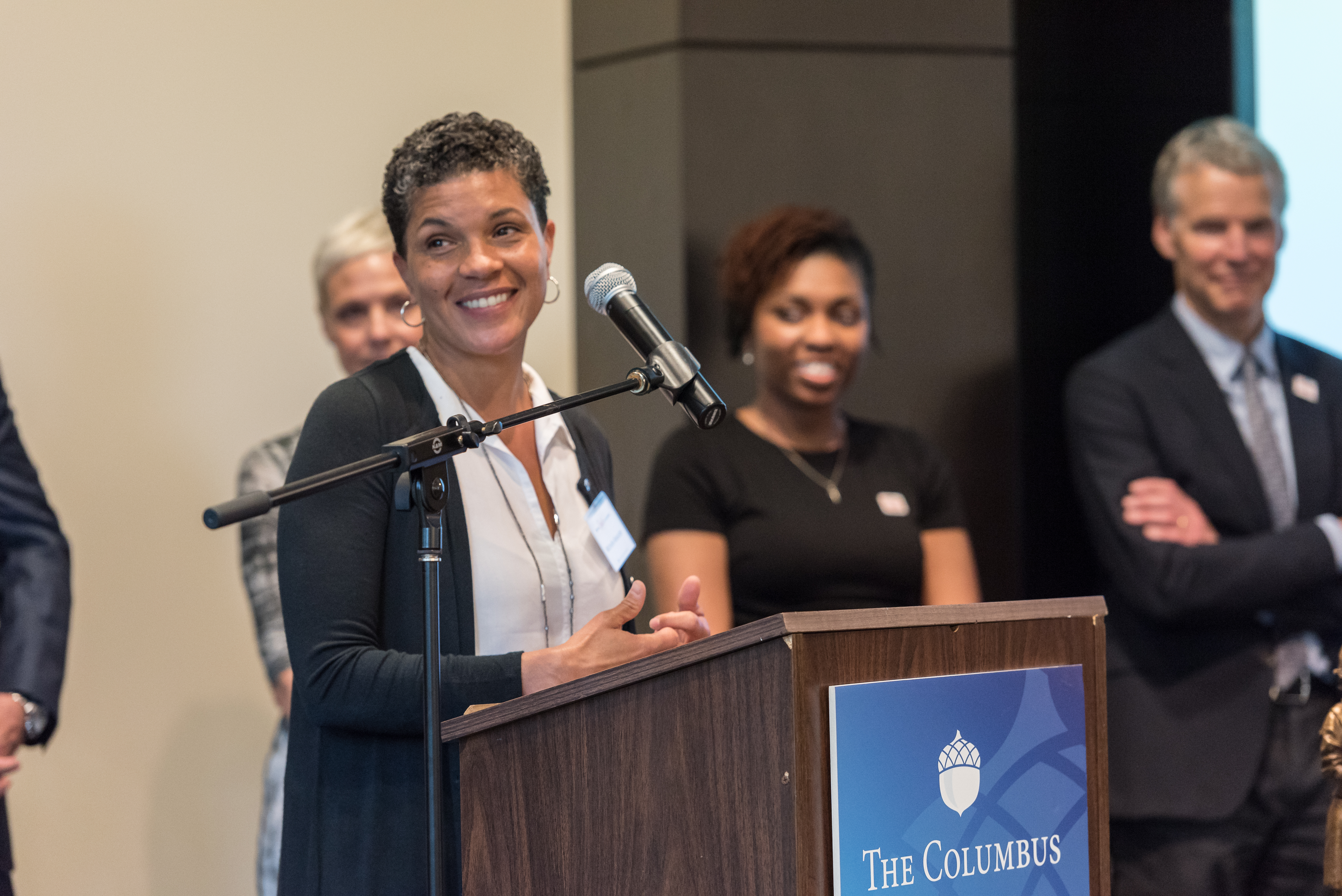 Michelle Alexander, legal scholar, advocate, civil rights attorney, and author of the groundbreaking book, The New Jim Crow: Mass Incarceration in the Age of Colorblindness, the 2017 winner of The Spirit of Columbus Award.